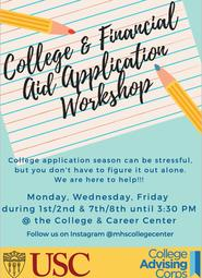 College & Financial Aid Workshops